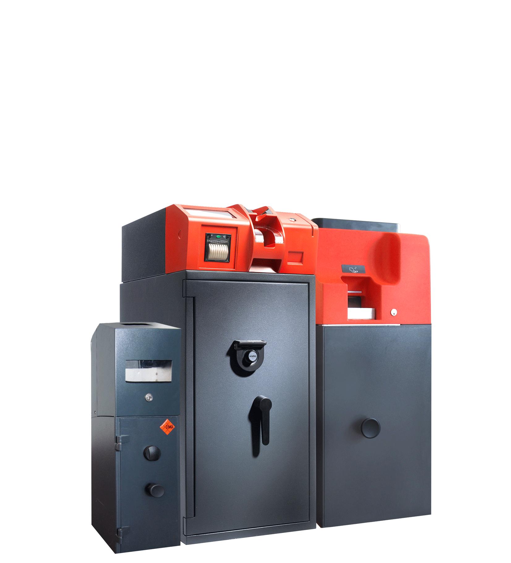 Kombination aus Einzahltresor und Recycler IC Cash 500S