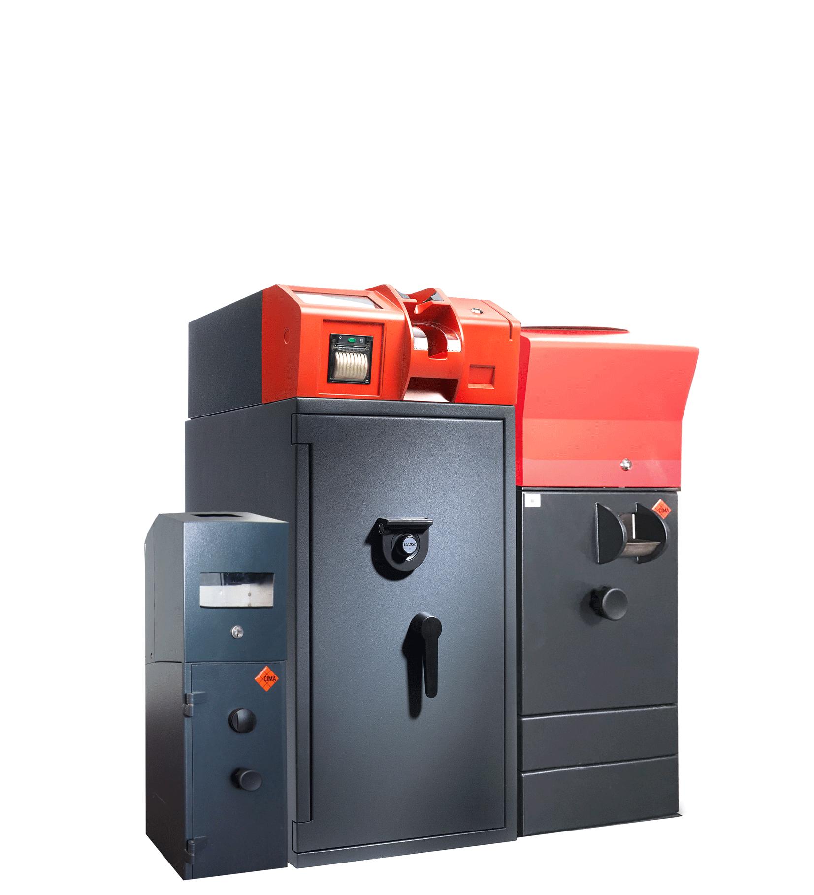 Kombination aus Einzahltresor und Recycler IC Cash 504S